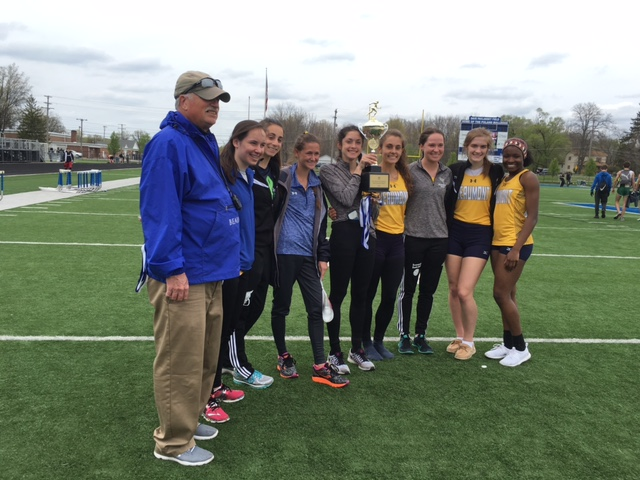 Beaumont Girls with Coach Jim Emery